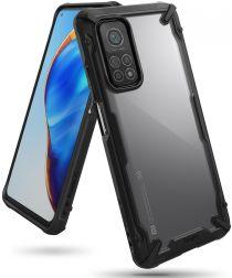 Ringke Fusion X Xiaomi Mi 10T/10T Pro Hoesje Transparant Zwart