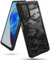 Ringke Fusion X Xiaomi Mi 10T/10T Pro Hoesje Camo Zwart