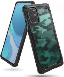 Ringke Fusion X OnePlus 8T Hoesje Back Cover Camo Zwart