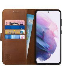 Rosso Deluxe Samsung Galaxy S21 Plus Hoesje Wallet Case Leer Bruin