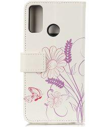 Oppo A53 / A53s Hoesje Book Case Portemonnee met Vlinder Print