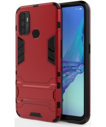 Oppo A53 / A53s Hoesje Hybride Back Cover met Kickstand Rood