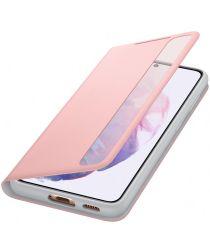 Origineel Samsung Galaxy S21 Hoesje Smart Clear View Cover Roze