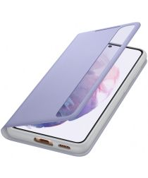 Origineel Samsung Galaxy S21 Hoesje Smart Clear View Cover Paars