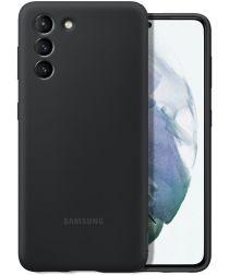 Origineel Samsung Galaxy S21 Hoesje Siliconen Cover Zwart
