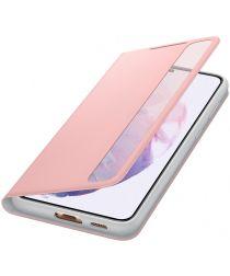 Origineel Samsung Galaxy S21 Plus Hoesje Smart Clear View Cover Roze