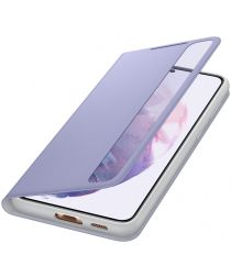 Origineel Samsung Galaxy S21 Plus Hoesje Smart Clear View Cover Violet