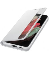 Origineel Samsung Galaxy S21 Ultra Hoesje Smart Clear View Cover Grijs