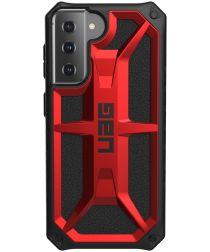 Urban Armor Gear Monarch Samsung Galaxy S21 Hoesje Crimson