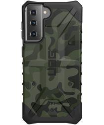 Urban Armor Gear Pathfinder Samsung Galaxy S21 Hoesje Forest Camo