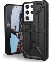 Urban Armor Gear Monarch Samsung Galaxy S21 Ultra Hoesje Carbon