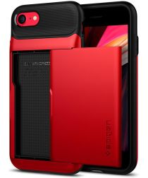 Spigen Slim Armor Wallet Apple iPhone SE(2020) / 8 / 7 Hoesje Rood