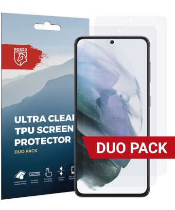 Rosso Samsung Galaxy S21 Clear Screen Protector Duo Pack Screen Protectors