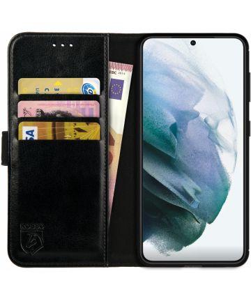 Rosso Element Samsung Galaxy S21 Hoesje Wallet Book Cover Zwart Hoesjes