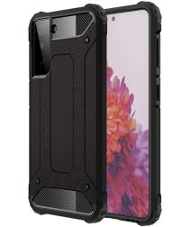 Samsung Galaxy S21 Plus Hoesje Shock Proof Hybride Back Cover Zwart