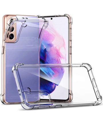 Samsung Galaxy S21 Hoesje Schokbestendig en Dun TPU Transparant Hoesjes